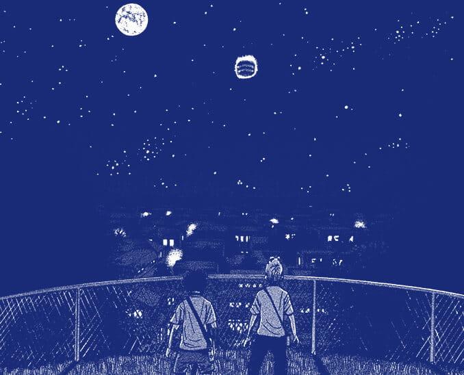 2006.07.09 南波兄弟、裏山を散策中、UFO発見。宇宙に行くことを決意する
